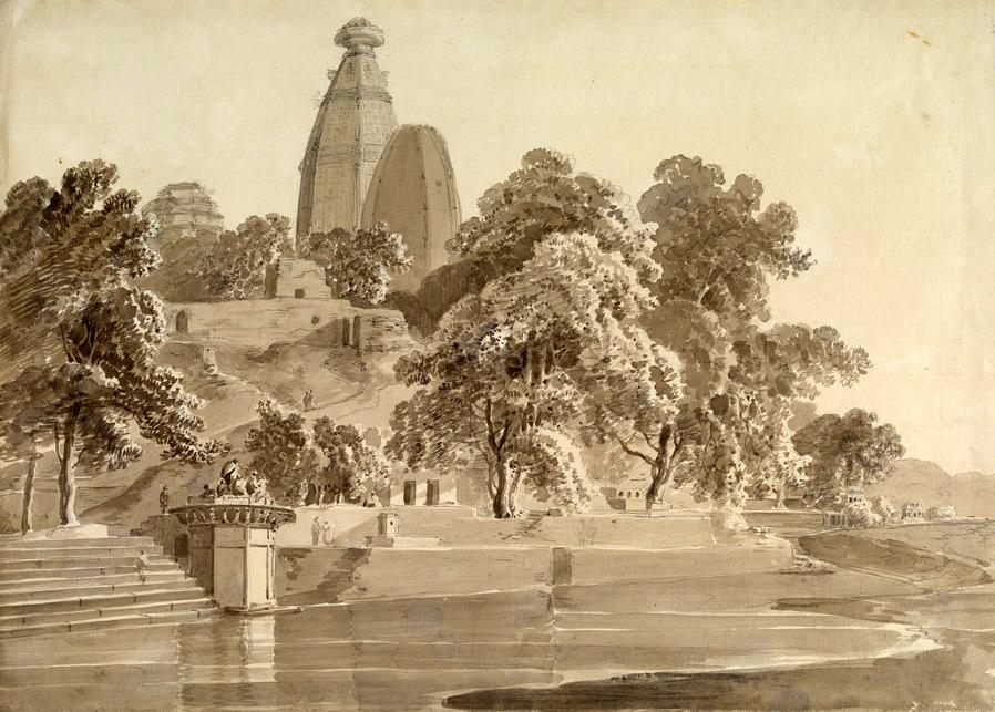 Madan_Mohan_temple,_on_the_Yamuna,_Vrindavan,_1789