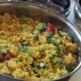 Ezzel a fűszerezéssel egy hagyományos dél-indiai ételt készíthetünk,aminek a lapított rizs adja az alapját (indiai boltokbanbeszerezhető). Mivel nagyon könnyen emészthető, leginkább reggelireajánljuk, és mivel ezt a fajta rizst valójában nem kell […]