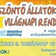 A NOÉ Állatotthonban idén is méltó módon szeretnék megünnepelni az Állatok Világnapját, összekötve az erőszakmentesség és a vegetarianizmus világnapjával, ezért nagyszabású Őszköszöntő Állatok Világnapi Rendezvényt szerveztek 2014. október 5-én, vasárnap. A […]